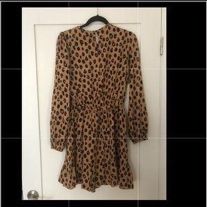 A New Day Leopard Print - Long Sleeve Dress